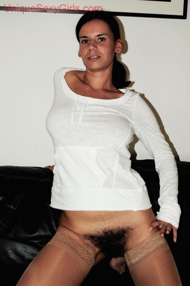 Идеальная небритая манда женщины