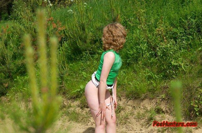 Писканула на лесной дороге